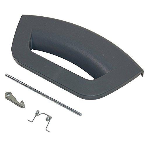 SPARES2GO Kit de manija de puerta de grafito para lavadora Hotpoint