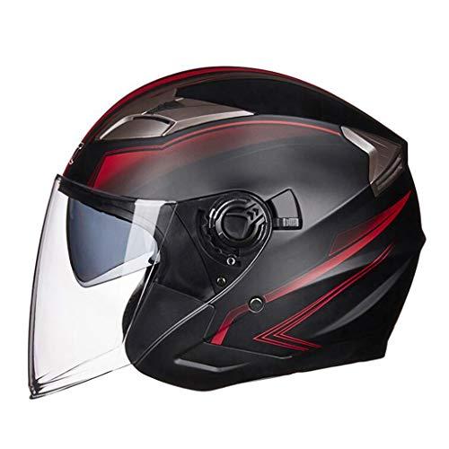 FLY® Casque De Moto, Casque À Lunettes Doubles, Réglable, Pour Hommes Et Femmes (Couleur : A-XL)