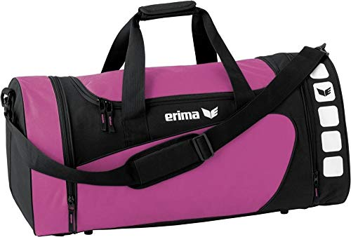 Erima Sporttasche Club 5, Größe M (Magenta/schwarz)