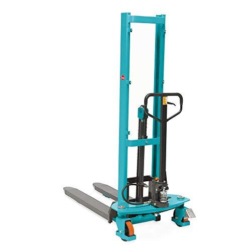 Hydraulik-Stapler Ameise Quick Lift, RAL 5018 türkisblau - Mit 1.000 kg Tragkraft und Schnellhub