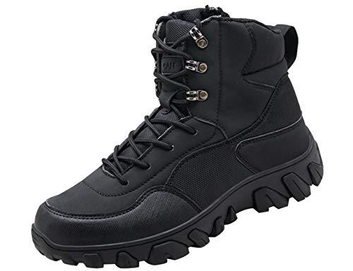 IYVW A03 Herren Wanderstiefel leichte Trekkingstiefel Atmungsaktive Military Boots US Army Schuhe für Outdoor Camping Wandern Bergsteigen Wüsten Offroad Schwarz 45EU