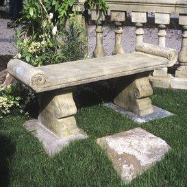 Gartentraum.de Steinbank aus Steinguss - Cambridge