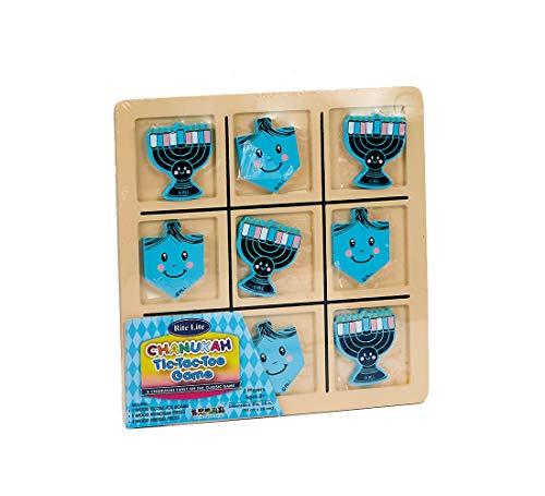 Rite Lite Chanukah Wood Tic Tac Toe Game - Hanukkah Games/Toys for Kids