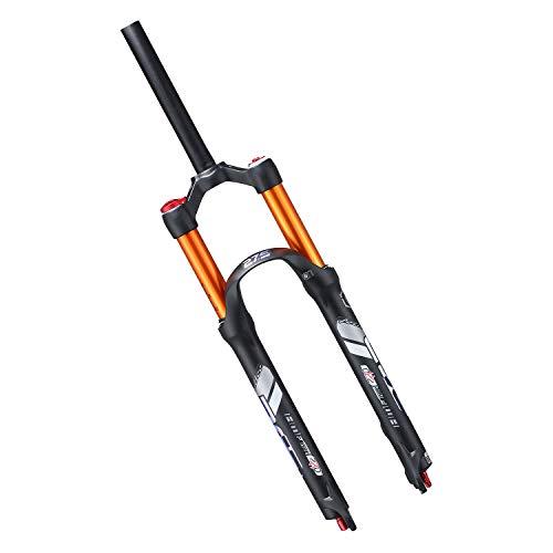 VXXV Cycling Bike Front Fork 26' 27.5' Suspension 1-1/8' Disc Brake 120mm Travel Air Forks Alloy - Black (Color : B, Size : 27.5 inch)