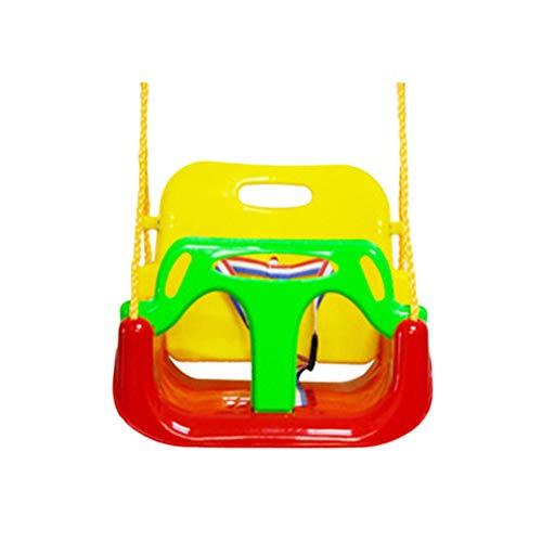 YOUCAI Asiento Columpio, 3 En 1 Columpios Infantiles para Bebés Niños Columpio de Jardín con Silla Convertible En Asiento de Seguridad, Carga Máx 120KG Rojo