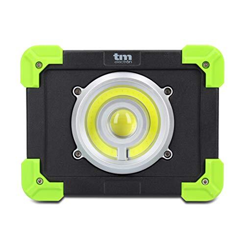 TM Electron TMTOR020 luz portátil de Trabajo COB LED súper Brillante de 20W y powerbank de 4000mAh