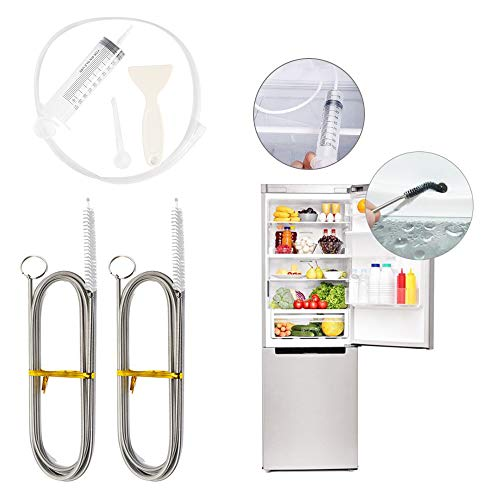 C100AE Cepillo frigorífico, Cepillo de limpieza para frigorífico, Removedor de Orificios de Drenaje de Frigorífico, cepillo para limpiar fregadero, para Limpiar Las Tuberías del Refrigerador