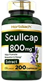 Chinese Skullcap Capsules | 800 mg | 200 Count | Max Potency, Value Size | Non-GMO and Gluten Free Scullcap Herb Supplement | Scutellaria Baicalensis | by Horbaach