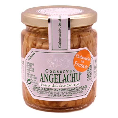 Tronco de Bonito del Norte en Aceite de oliva - Conservas Angelachu