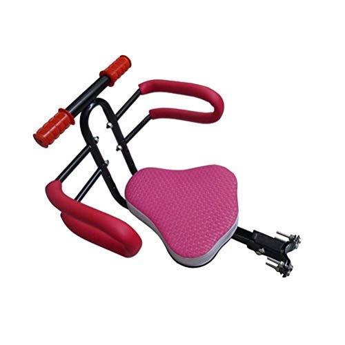 SXFYHXY Asiento Delantero Plegable para niños para Bicicleta, Porta sillas de Seguridad para Bicicletas eléctricas de liberación rápida con Valla y reposabrazos para niños y bebés (Color: Negro)