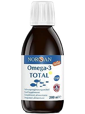 NORSAN Premium Omega 3 Fischöl Total Zitrone hochdosiert - 2.000mg Omega 3 pro Portion - Über 4000 Ärzte empfehlen NORSAN Omega 3 Öl - 800 IE Vitamin D3, kein Aufstoßen