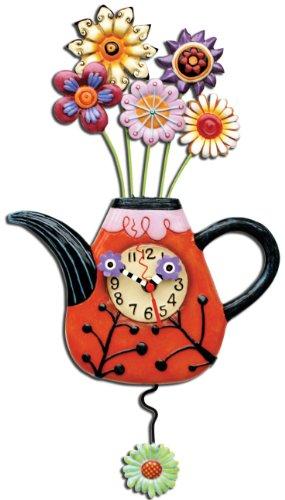 Allen Designs Orologio Fioritura Tè Resina, Design di Michelle Allen, 31 cm, multicolore