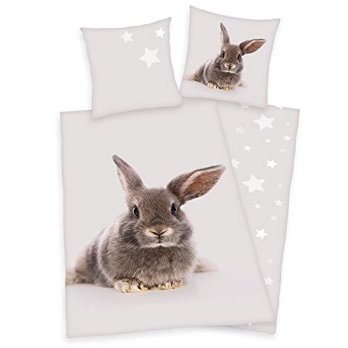 Herding Bettwäsche Hase Kaninchen 135 x 200cm 100% Baumwolle