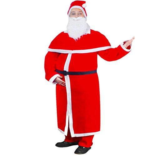 vidaXL Costume Babbo Natale Tradizionale Taglia Unica Cappotto Lungo Natale