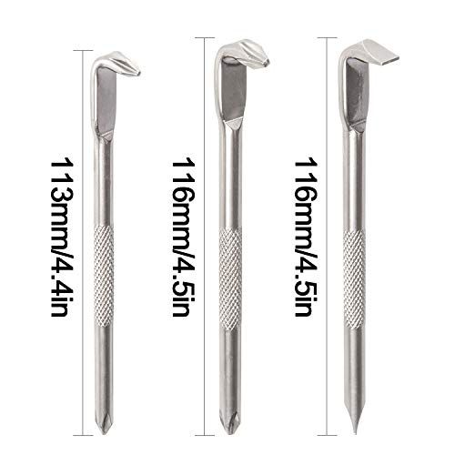Tonsiki 3 Pieces Double Head Offset Magnetic Screwdriver Set, L - type Screwdriver with Philips Head and Flathead Slotted Head