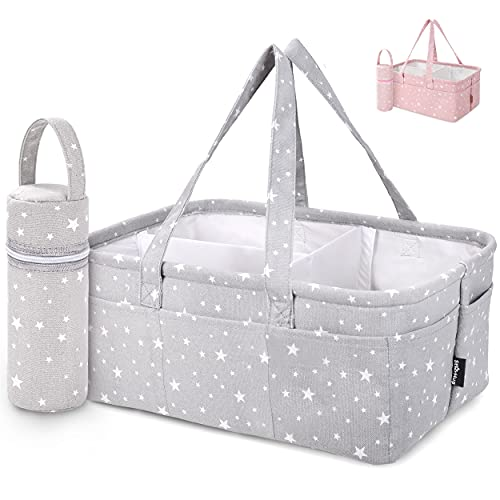 Product Image of the StarHug Baby Diaper Caddy Organizer - Baby Shower Basket | Large Nursery Storage...