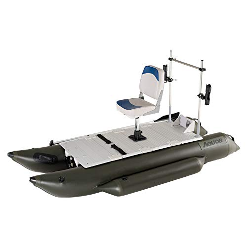 Buy Discount AQUOS Heavy-Duty 2020 New 10.2 ft Inflatable Pontoon Boat with Stainless Steel Grab Bar...