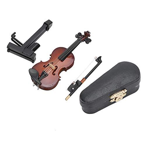 Mini instrumento musical, exquisito juguete de violín en miniatura, elegante simulación para la oficina, hogar, escritorio, decoración, cumpleaños, festival