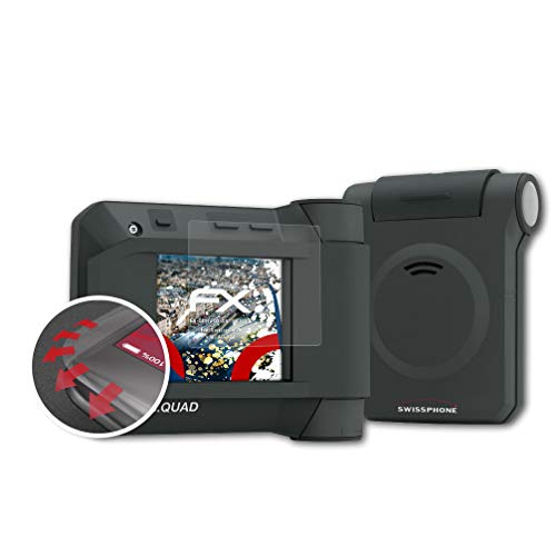 atFoliX Schutzfolie kompatibel mit Swissphone s.Quad X35 Folie, entspiegelnde und Flexible FX Displayschutzfolie (3X)