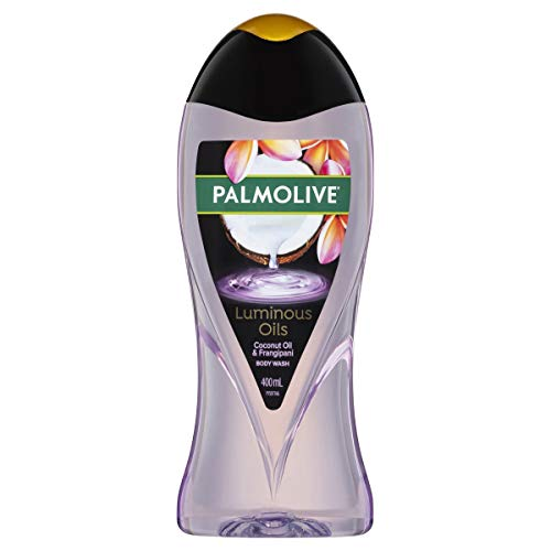 Palmolive Luminous Oils Body Wash 400mL, Enriching Coconut Oil with Frangipani, No Parabens Phthalates or Alcohol, Recyclable Bottle