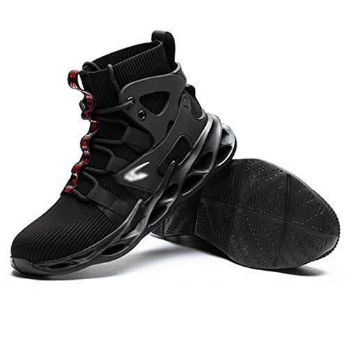 Zapatos de Seguridad Hombre, Los Hombres Ligeros De Los Zapatos De Seguridad Las Mujeres Trabajan Las Zapatillas De Deporte De Las Zapatillas De Deporte De Los Casquillos De La Punta De Acero,Black-45