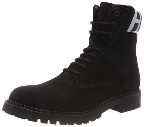 HUGO Herren Explore_Halb_wxsd Combat Boots, Schwarz (Black 001), 43 EU