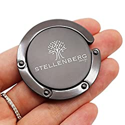 STELLENBERG design® - Taschenhalter für Tisch - Taschenhaken mit Antirutsch - Aufhänger bis 5 Kg - Geschenkidee für Frauen - Gadgets für Frauen - Handtaschen Aufbewahrung