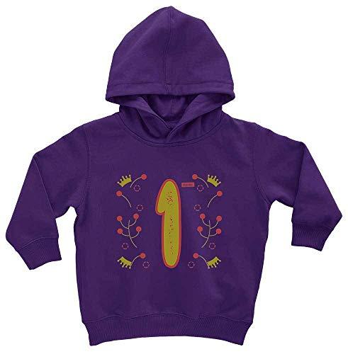 HARIZ HARIZ Baby Hoodie Geburtstag Mädchen Krone Sterne 1 Geburtstag Kinder Baby Plus Geschenkkarten Sternenstaub Lila 1-2 Jahre