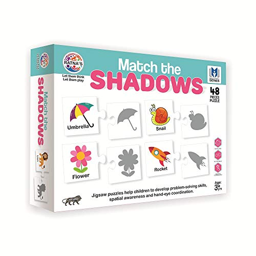 RATNA'S Match The Shadows Jigsaw Puzzle for Kids. 24 Different Shadow Jigsaw for Kids.