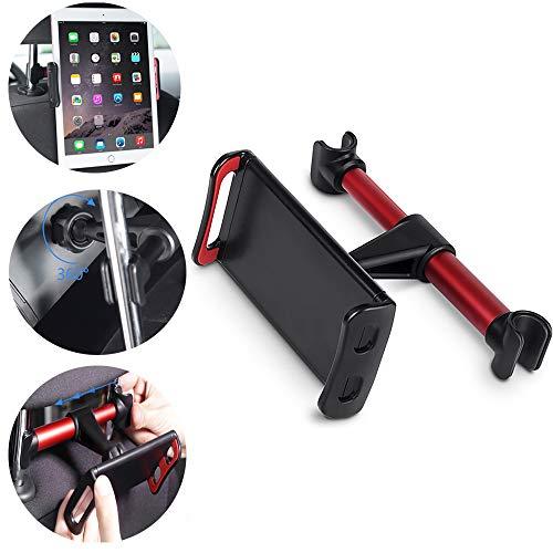 OurLeeme 360 ° Rotation arrière de Voiture Oreiller Stand 4-11 Pouces Tablet PC Phone Support à Montage pour iPhone X 8 Mini iPad Tablet, Rouge