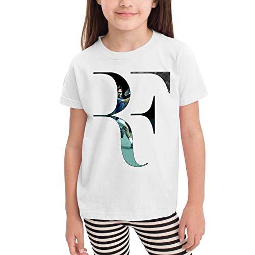 Superstar Roger-Federer Camisetas gráficas para niñas Adolescentes, niños y niñas, Camiseta de Manga Corta, Camisetas de algodón, Camisetas para niños