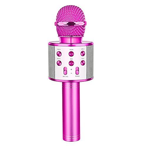 Bluetooth Microfono Karaoke per Bambini, LetsGO toyz Giocattolo Regalo Bambina 4-16 Anni Giocattoli Bambina 5-14 Anni Regali per Bambini Ragazza 4-15 Anni Regali di Natale Bambini 4-15 Anni