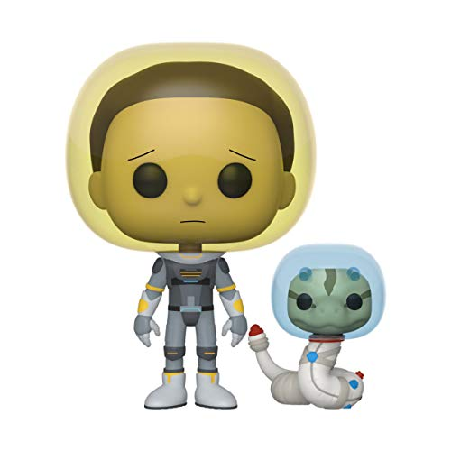 Funko- Pop Animation: Rick & Morty-Space Suit Morty w/Snake Rick and Collectible Toy, Multicolor (45435)