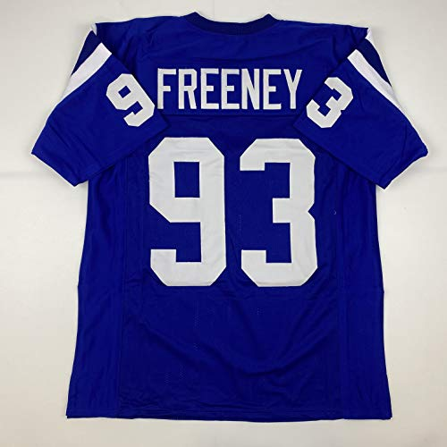 Unsigned Dwight Freeney Indianapolis Blue Custom Stitched Football Jersey Size XL New No Brands/Logos