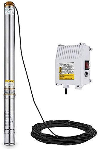 IWxez Maximaler Hub 25GPM 150 ft pumpt Tiefe Brunnen Tiefbrunnentauchpumpen Tiefpumpe 220 V 1/2 HP mit 5 ft Kabeln,1.5kw 2hp