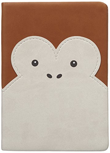 Daycraft N76-237-00 - Animal Pals notitieboek, aap mooi Italiaans PU