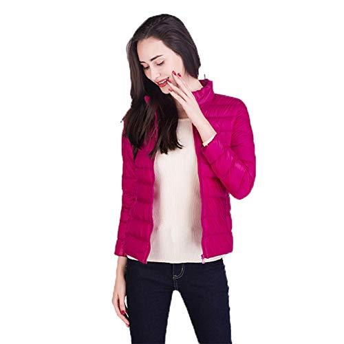 Verpakbare Down Jacket Vrouwen Stand Kraag Ultra Lichtgewicht Korte Winter Puffer Jas met Draagtas S-XXXL