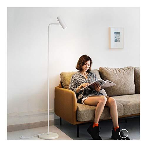 -Golvlampa golvlampa LED säng vardagsrum sovrum soffa läsning från Pole vertikal lampa golvlampa volvtad (färg: B)