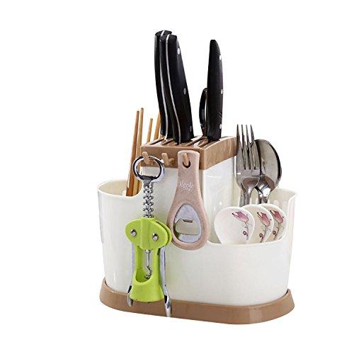 outgeek Besteckhalter, Kunststoff Platzsparende Utensil Wäscheständer Küche Werkzeug Organizer für Esstisch