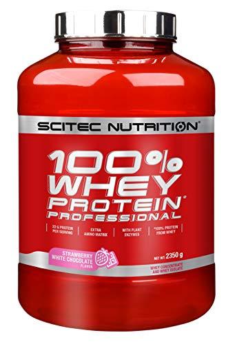 Scitec Nutrition Protein 100{cd71f6a556ee703a34651cbfae5723c7d58eb99ffa3ee5e8c1ce572369d7de20} Whey Protein Professional, Erdbeer-Weiße Schokolade, 2350g