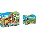 Playmobil Country Granja De Ponis con Muchos Animales Y Pajar, A Partir De 4 Años (6927) + Country: Gallinero Conjunto De Figuritas, Multicolor (70138)