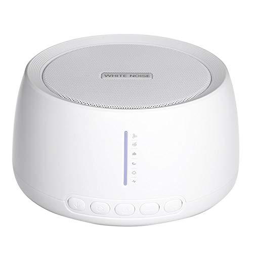 AIPZDJ White Noise Machine USB Soundmaschine Schlafen Helfer mit 30 Natürlich Geräusche Therapie Timer und Erinnerung Funktionen zum Kindergarten Zuhause Büro Reise