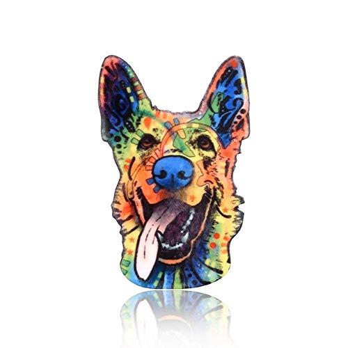 puissant Broches et épingles pour filles, imprimés couleur individuels, animaux, fleurs, broches, beaux bulldogs…