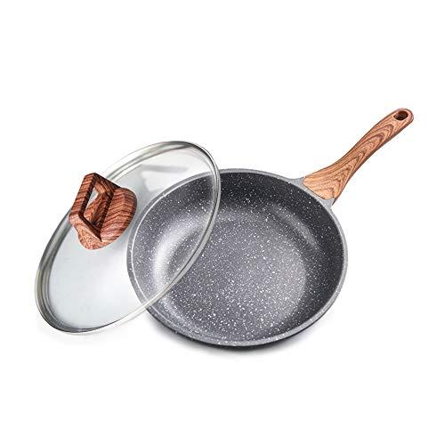 Set de sartén de sartén antiadherente, lavavajillas Caja fuerte, Caja de cocina de cocina sana con tapa de vidrio, PFOA gratis (9.5'y 11') cacerola,26cm
