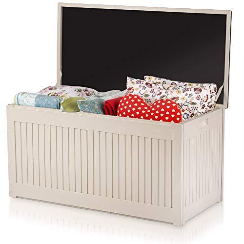 Plonos Auflagenbox Gartenbox Gartentruhe 107x53x51 cm 270 Liter