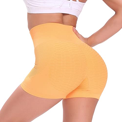 Taurner Mujer TIK Tok Pantalones Cortos Mallas de Butt Lifter Leggings Transpirables Anti-Cellulite Leggings Multicolor Yoga Shorts para Gimnasio