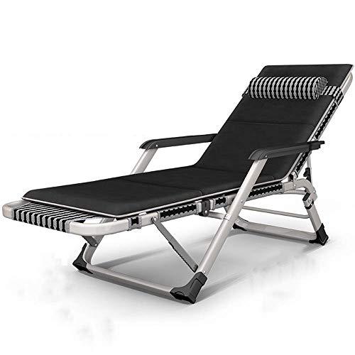 WSDSX Silla reclinable Plegable, sombrilla Plegable Transpirable, sillón reclinable de jardín, balcón, Ocio, Playa Perezosa, jardín, Respaldo de Oficina, Silla portátil, Ajuste de 15 velocidades