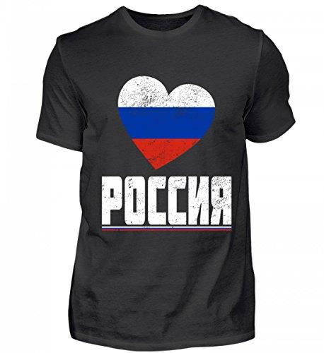 ALBASPIRIT Hochwertiges Herren Shirt - Russland POCCNR T-Shirt Russland Fanartikel Rusische Flagge Trikot Geschenk