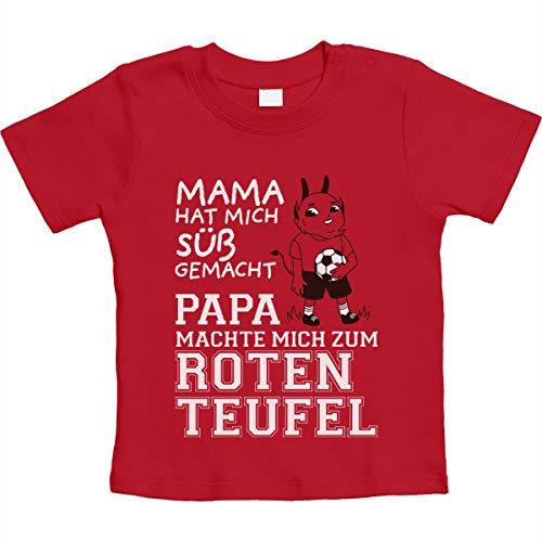 Kaiserslautern - Papa machte Mich zum Roten Teufel Unisex Baby Thirt 18-24 Monate Rot