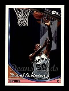 Basketbal Verzamelingen 1995-96 Topps Finest #245 David Robinson San Antonio Spurs Basketball Card